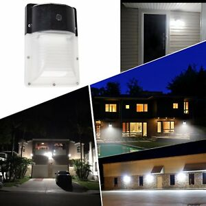 Led Wall Pack Light With Photocell 13w 2000lm 5000k Daylight White Ip65 Dlc Etc