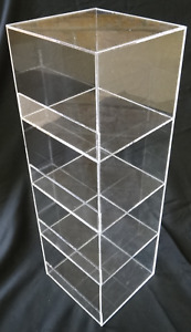 Acrylic Convenience Store Counter Top Display Case 6 x6 x19 Display Box Clear