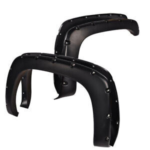 Pocket Style Bolt On Rivet Fender Flares For Chevy Silverado Gmc Sierra 99 06