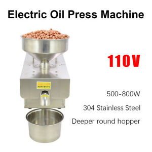 Oil Machine 110v 500 800w Stainless Steel Automatic Press Extraction