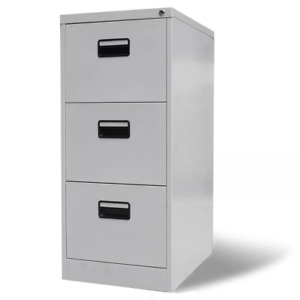 Metal Filing Cabinet Storage Document Cabinet Office Furniture With Drawers Gray