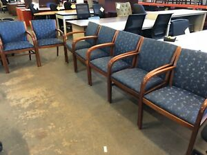 Lot Of 8 Guest side Chairs By Bernhardt As is