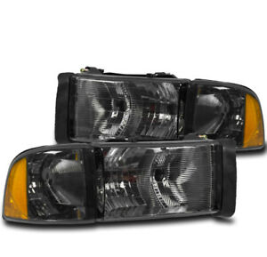 1999 2001 Dodge Ram 1500 Sport Truck Smoke Headlight Corner Turn Signal Lamp New