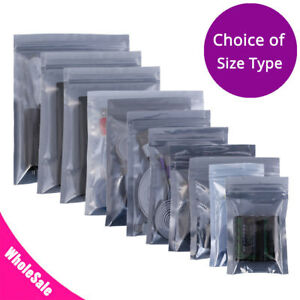 Assorted Sizes Glossytranslucent Anti Static Mylar Sealable Zip Lock Pouch Bag M