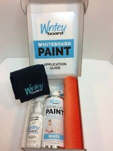 Writey Board Whiteboard Paint Kit White Dry Erase Wall Paint 50 Square Feet