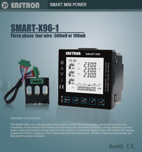 Smart X96 1 Three Phase Panel Mounted Multi function Energy Meter With Modbus