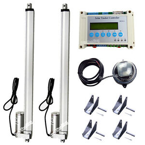 Complete Dual Axis Solar Tracking Sunlight Tracker System W 16 Linear Actuator