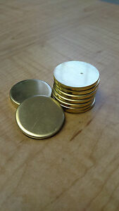 1 1 4 Dia Brass Round Disc Blanks 125 1 8 Thick lot Of 32