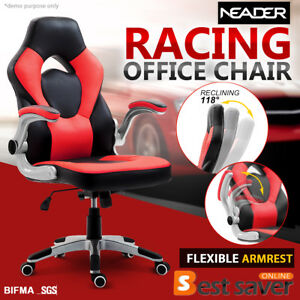 Neader Racing Chair Reclining Executive Swivel High Back Computer Seat Chair Red
