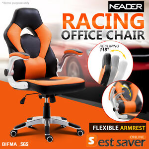 Neader Racing Gaming Chair Executive Office Chair High back Swivel Wheels Orange