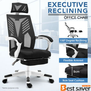 Office Gaming Chair Racing Chair Executive Reclining Computer Chair W footrest