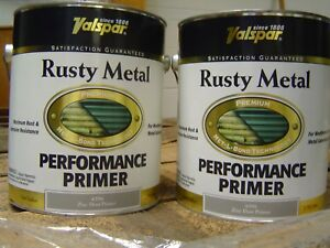 One Gallon Zinc Primer Paint Valspar Rusty Metal Bond Auto Body Undercoating