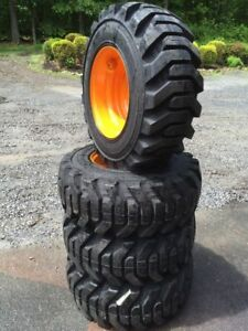 4 New 12 X 16 5 Skid Steer Tires Rims For Case 12x16 5 14 Ply