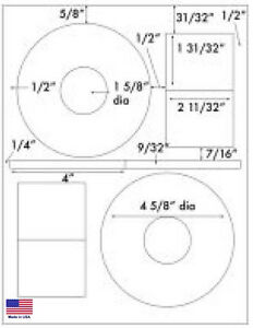2000 Cd Dvd Glossy Labels Fits Stomper Style Full Face Large Core Free S