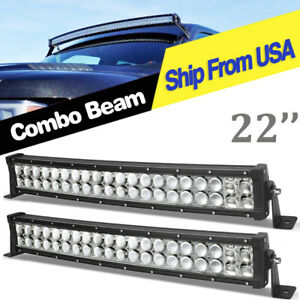 Amber White Led Light Bar 22inch 150w Spot Flood Offroad Driving Jeep Truck Ute
