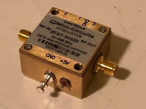 Mini circuits Zfat 51020 10 To 1000 Mhz 15 Dbm Sma f Step Attenuator