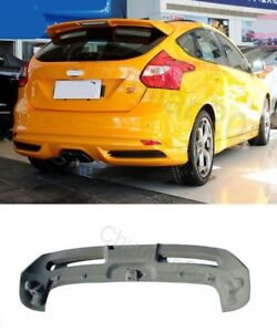 Factory Style Spoiler Wing Abs For 2012 2018 Ford Focus Hatchback St Rs