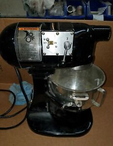 Hobart N50 Commercial Mixer Gear driven 3 speed 5 Quart Black