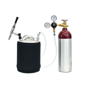 Mobile Nitrogen Keg Kit 22 Cu Ft Aluminum Tank 2 5 Gallon Keg Free Shipping