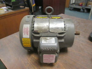 Baldor Corrosion Protected Chemical Processing Motor Vcp3581t 4 1hp 1800rpm Used