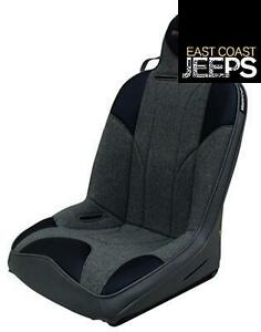 Mastercraft Safety 504007 Baja Rs Reclining Seat In Black Vinyl Smoke Outer Bl