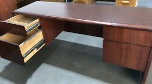 Office Desk Solid Wood With Cherry Finish