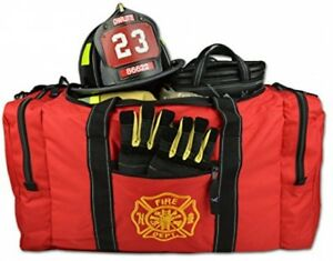 Firefighter Bag Pocket Turnout Fire Gear Holder Fireman Rescue Padded Strap