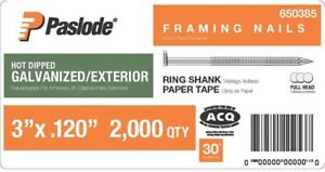 Paslode Framing Nails Collated Fastener 3 X 0 120 gauge 2000 Per Box