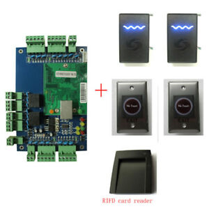 2 Door Access Control Board 2pcs 125khz Rfid Card Reader Infrared Switch
