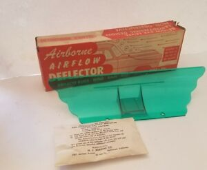 Vintage Nos Automotive Green Airborne Airflow Bug Snow Hood Ornament Deflector