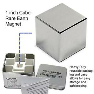 Cms Magnetics Super Strong 1 Neodymium Cube Magnet Storage Box Included For