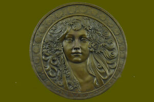Hawaiian Princess Wall Relief Bronze Sculpture Statue Figure Handcrafted Art T