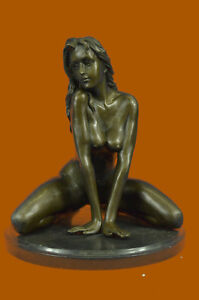 Handcrafted Sexy Provocative Girl Naked Sexual Hot Cast Real Figurine Gift