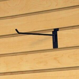 Only Hangers Commercial Deluxe Slatwall Hook 12 Black Box Of 50