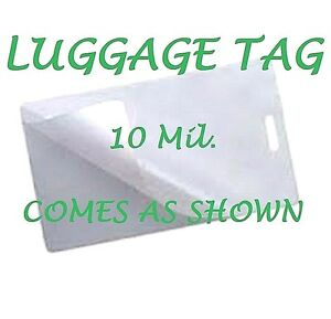 500 Luggage Tags Laminating Pouches Sheets W slot 2 1 2 X 4 1 4 10 Mil Gloss