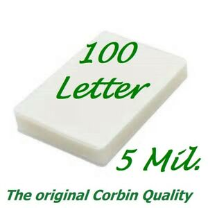 100 Letter Laminating Pouches Laminator Sheets 9 X 11 1 2 5 Mil Scotch Quality
