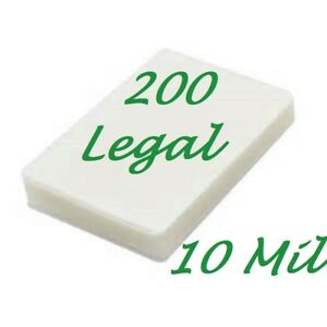 200 Legal Laminating Laminator Pouches Sheets 9 X 14 1 2 10 Mil Scotch Quality