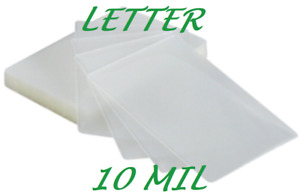 500 Letter Laminating Laminator Pouches Sheets 10 Mil 9 X 11 1 2 Quality