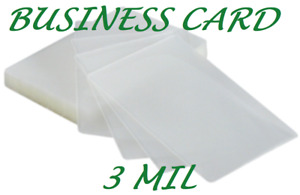 100 Business Card Laminating Laminator Pouches 3 Mil 2 1 4 X 3 3 4 Quality
