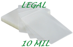 100 Legal Size Laminating Pouches Sheets 9 X 14 1 2 10 Mil Quality