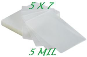 5 X 7 Laminating Laminator Pouches Sheets 5 25 X 7 25 500 5 Mil Quality