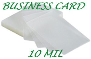 1000 Business Card Laminating Pouches 10 Mil 2 1 4 X 3 3 4 Ultra Clear Quality