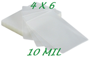 4 X 6 Laminating Laminator Pouches Sheets 4 25 X 6 25 300 10 Mil Quality