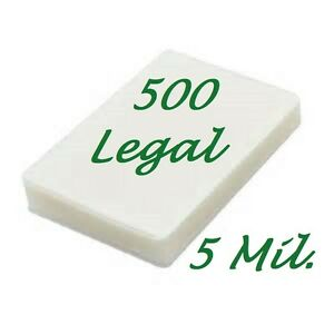 500 Legal Laminating Laminator Pouches Sheets 9 X 14 1 2 5 Mil Scotch Quality
