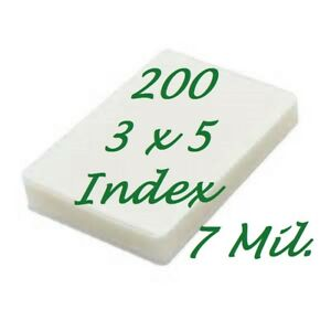 3 X 5 Laminating Laminator Pouches Sheet 200 3 1 2 X 5 1 2 7 Mil Scotch Quality
