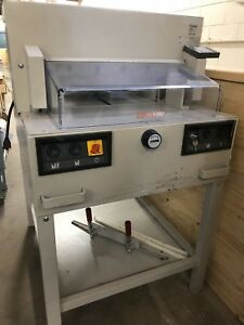 Ideal Paper Cutter 4850 95 18 Used Ep Mbm Michael Business Machines Guillotine