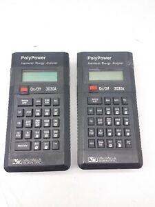 Lot Of 2x Valhalla Scientific 3030a Polypower Harmonic Energy Analizer