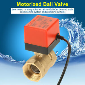 Dc 12v G1 1 2 2 way Electric Ball Valve Dn 40 Brass Motorized Ball Valve Mf