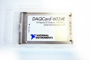 National Instruments Ni Daqcard 6024e Ni Daq Card Pcmcia Analog Input Multi