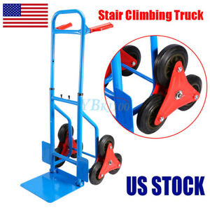 440lbs Steel Folding Foldable Moving Warehouse Cart Luggage Trolley Hand Truck